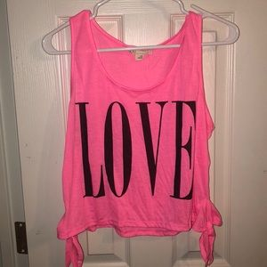 Hot pink LOVE tank